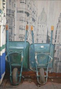 Obras en Madrid, según la pintora Elena Méndez