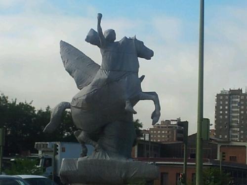 Estatua en Legazpi