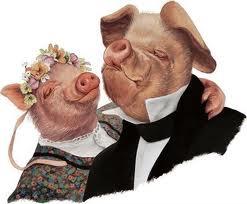Quién iba a decir que los jamones del hermano cerdo y la hermana cerda acabaran siendo cultura...